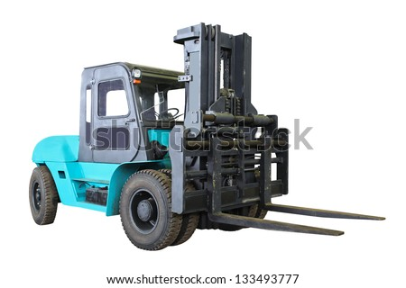 The image of loader under the white background