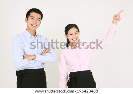 The image of man in Korea, Asia - stock photo