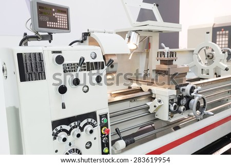 The image of metal-working machine