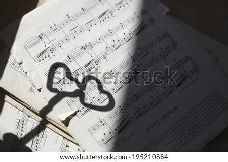 the image of musical notes