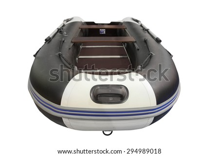 The image of oar boats - stock photo