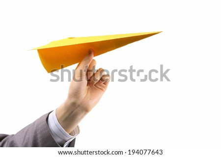The image of paper airplane in Korea, Asia