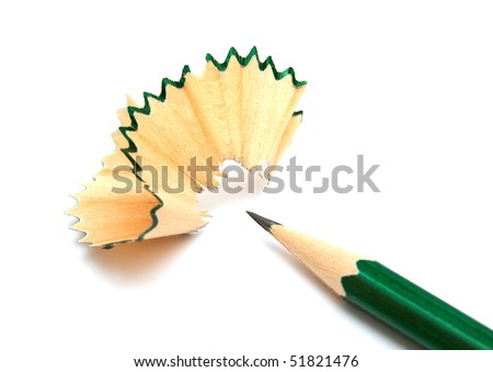 The image of pencil and shavings