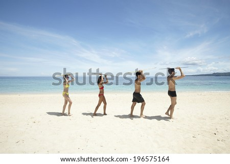 the image of people on vacation,Boracay in Philippine