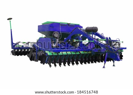 The image of plow under the white background