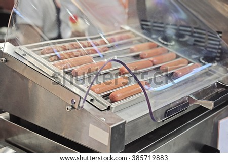 The image of roast sausages