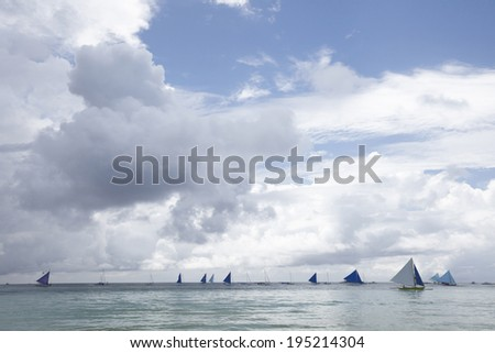 the image of sailing boats in the Philippines