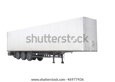The image of semitrailer under the white background