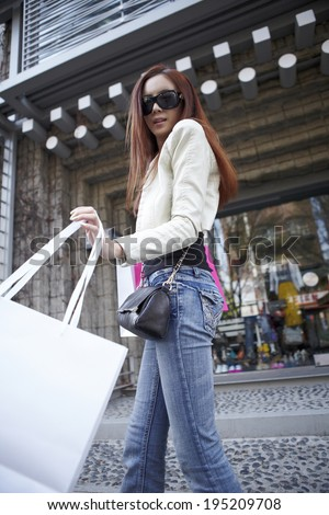 the image of shopping Asian woman