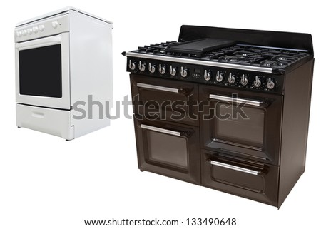 The image of stoves under the white background