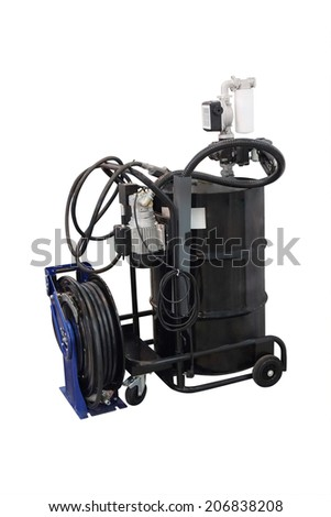 The image of tank for used crankcase oil - stock photo