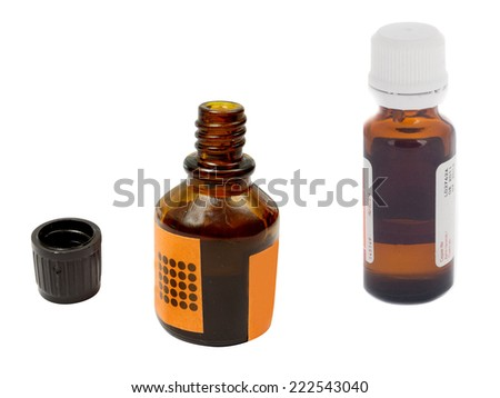 the image of the bottle under the white background - stock photo
