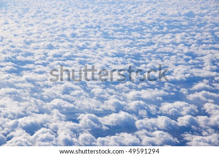 The image of the clouds background texture