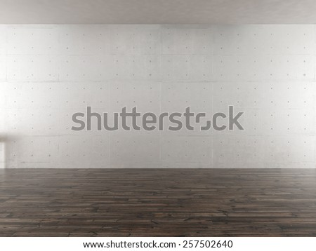 The image of the interior concrete wall - stock photo