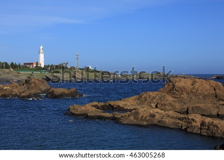 The Image of The Lighthouse in boso peninsular.