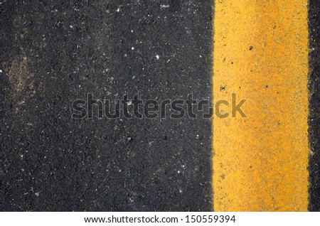 the image of the road texture with yellow line - stock photo