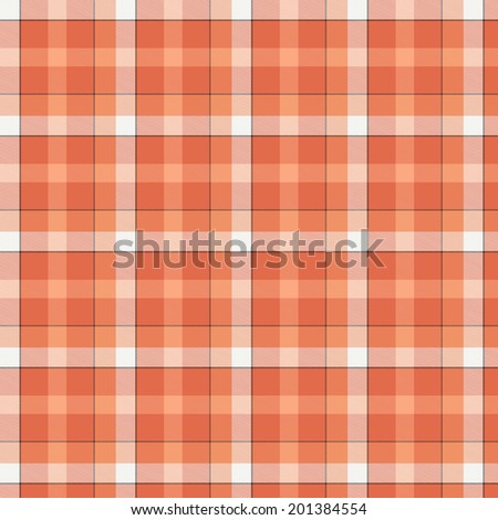 The image of the Scottish fabric of red color - stock photo
