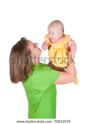 The image of the woman and its small daughter