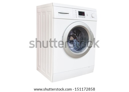 The image of washer isolated under the white background - stock photo