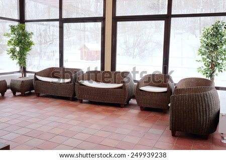 The image of wicker furniture - stock photo