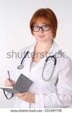 The image of woman-doctor