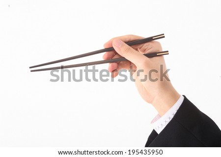 The image of wooden chopsticks in Korea, Asia