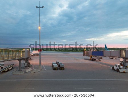 The image with an airfield - stock photo