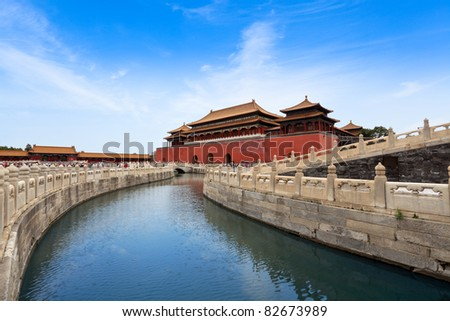 the imperial palace in Beijing,China