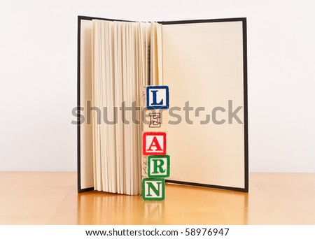 The Importance of Learning to Read - stock photo