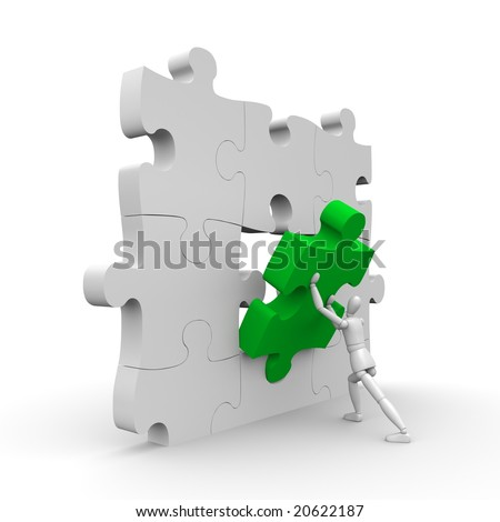 The important part - stock photo