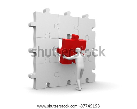 The important part - 3d render - stock photo