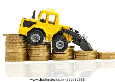 the income decline in construction. less income for housing we road - stock photo
