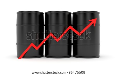 The increase in prices of energy carriers - stock photo