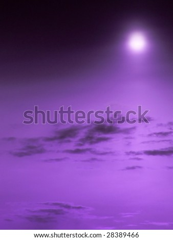 The incredible purple sky. - stock photo