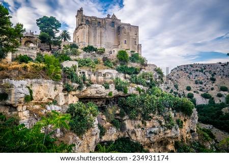 The incredible scenario of Matera, the city of stones in Basilicata region - stock photo