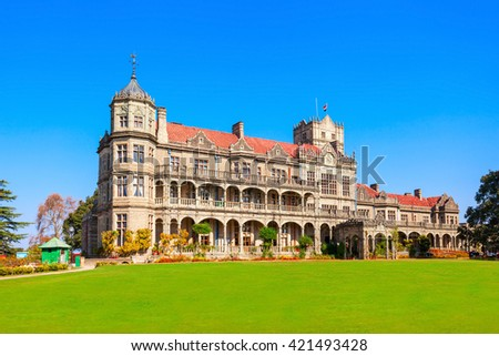 The Indian Institute of Advanced Study (before the Viceregal Lodge) is a research institute based in Shimla, India. - stock photo