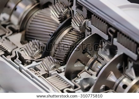 the inside of the transmission - stock photo