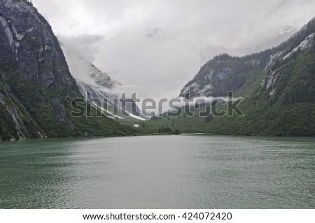 The Inside Passage along the Southern Alaska coast  - stock photo