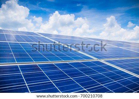 The installation of solar cells stacked layers. In the area of ??solar farms. Alternative energy from nature is clean energy. And do not affect the environment.select and soft focus.