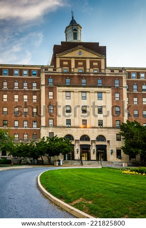The Institute for Policy Studies at John Hopkins University in Baltimore, Maryland. - stock photo