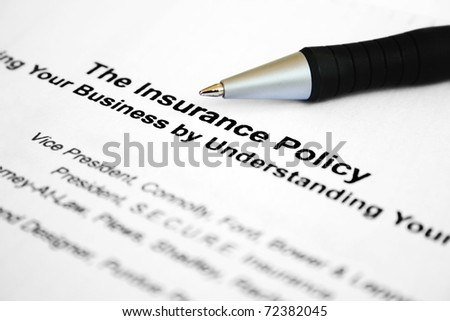 The insurance policy - stock photo