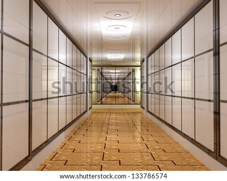 The interior of a modern office. - stock photo