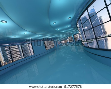 The interior of a modern office.,3d render