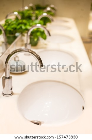 The interior of an executive washroom - stock photo