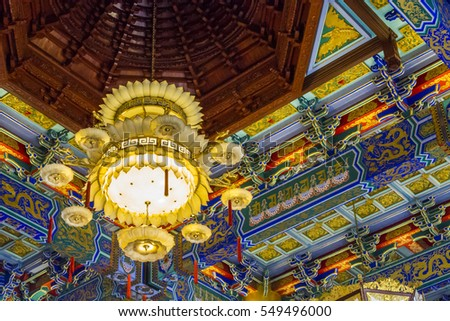 The interior of chinese temple