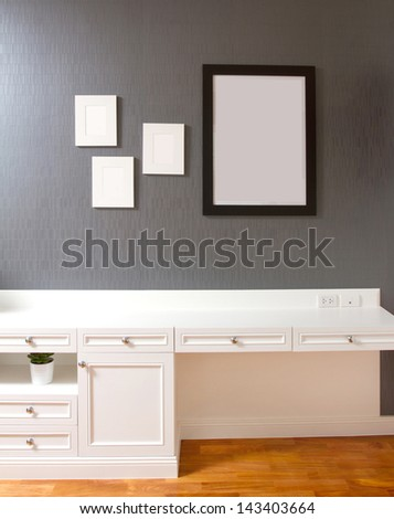 The interior of living room or bedroom with empty space - stock photo