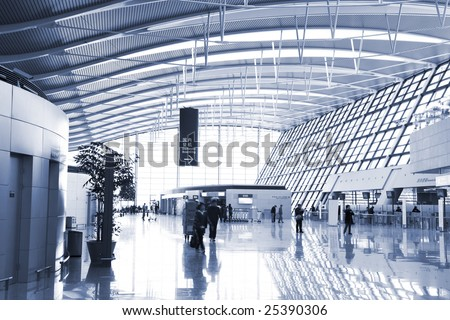 the interior of the airport in shanghai
