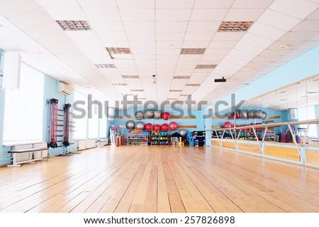 The interior of the dance studio - stock photo