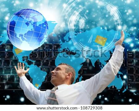 The Internet future - stock photo