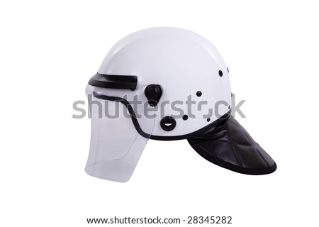 The intervention helmet provides full head coverage to police units engaged in crowd control activities.